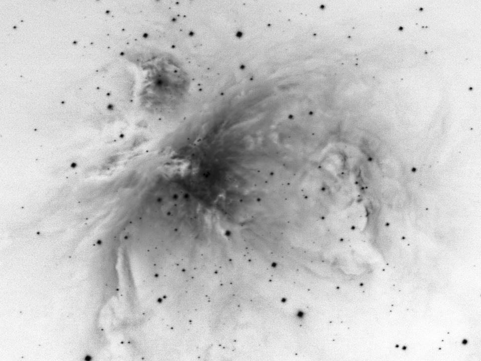 M42 - UHC N&B négatif